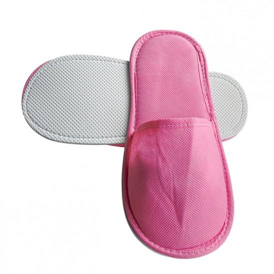 Затворени чехли от нетъкан текстил, Розов - 5, 10 или 30 чифта