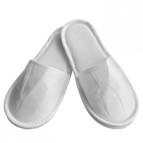 Затворени чехли от нетъкан текстил, Бял - 5, 10 или 30 чифта