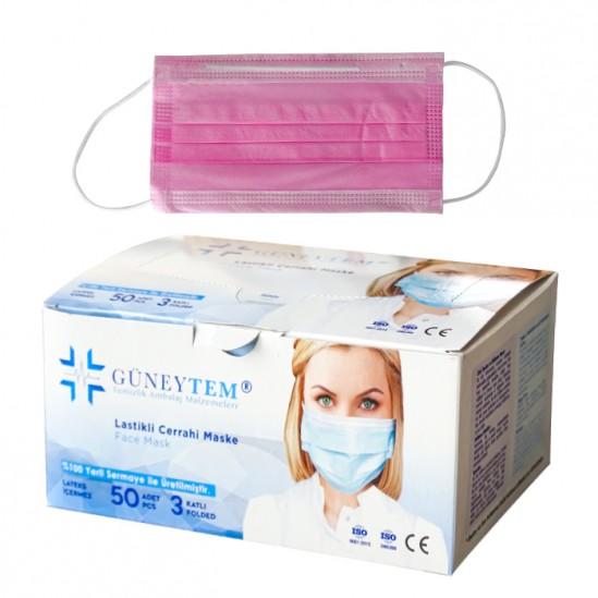 Еднократни стерилни медицински маски за лице Güneytem - 50 бр.