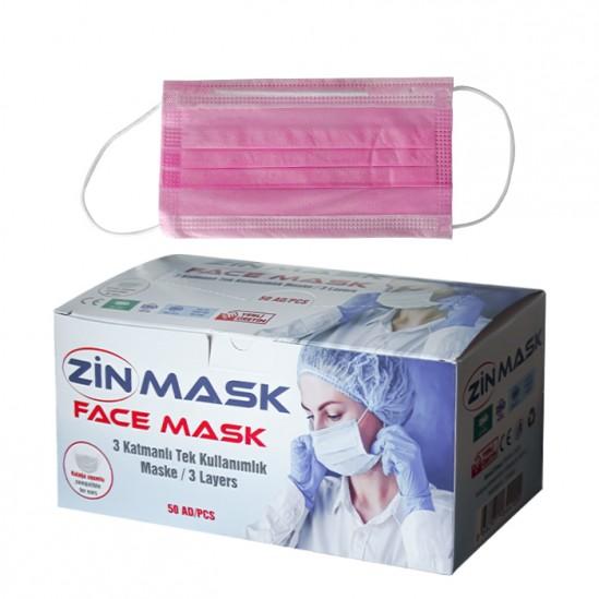 Еднократни медицински маски за лице Zin mask - 50 бр.