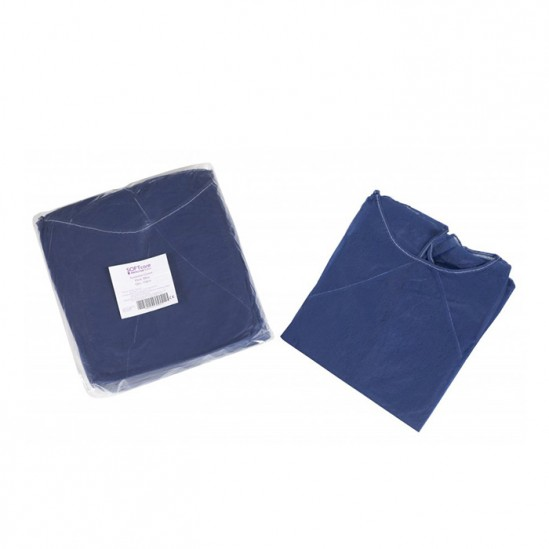 Синя медицинска престилка за многократна употреба Softcare