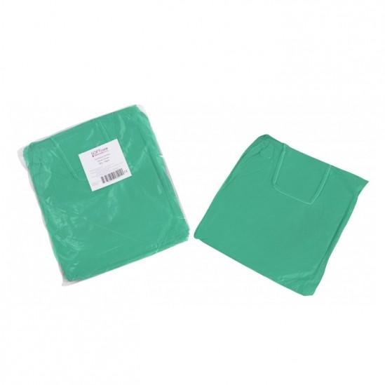 Зелена медицинска престилка за многократна употреба Softcare