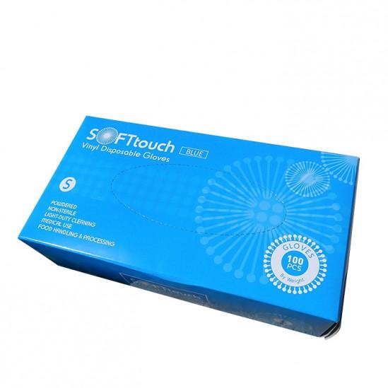 Еднократни ръкавици от винил, Soft Touch, размер S, 100бр