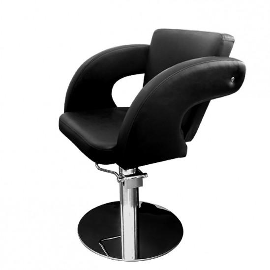 Фризьорски стол с подлакътници, M1001 - черен