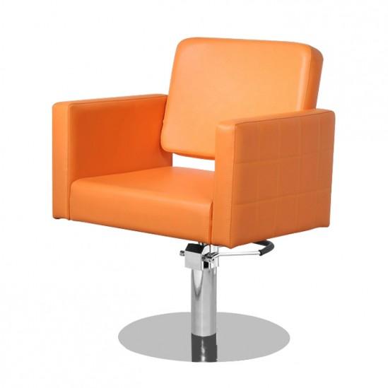 Фризьорски стол, М970 - оранжев