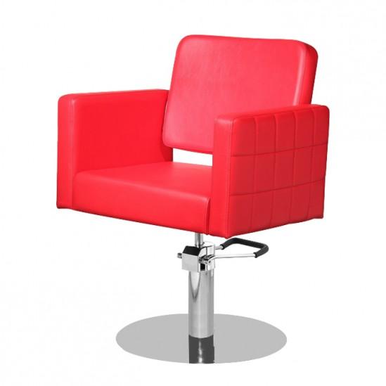 Фризьорски стол, М970 - червен