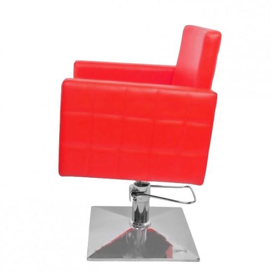 Фризьорски стол, PA08F0R - червен