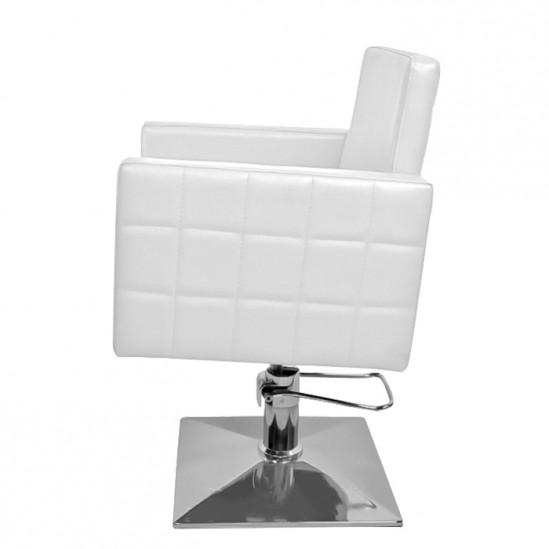 Фризьорски стол, PA08F0W - бял