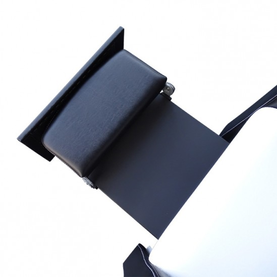 Комбинирана измивна колона със стойка за педикюр - 810 плюс, черно-бяла