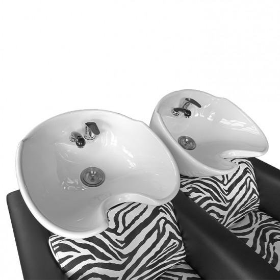 Двойна измивна колона Z2500 от екологична кожа със зеброва щампа