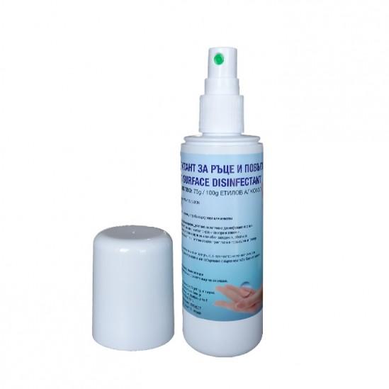 Дезинфектант за ръце и повърхности спрей 100 ml