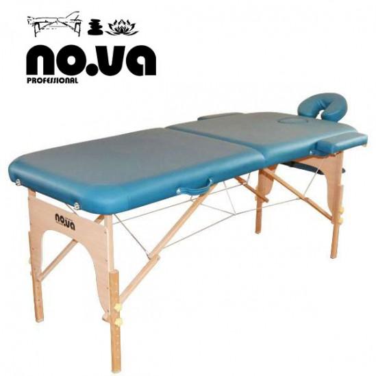 Дървена масажна кушетка, NO.VA Standart, NV22 - зелена