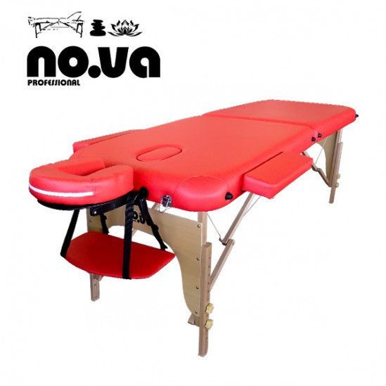 Дървена масажна кушетка, NO.VA Standart, NV22 - червена