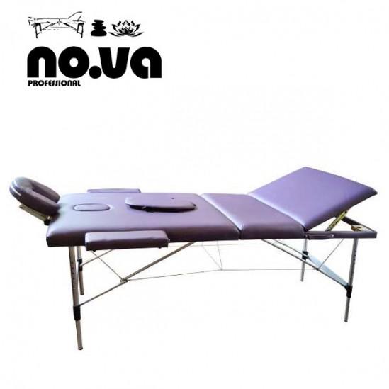 Алуминиева масажна кушетка, NO.VA Aero Plus, NV31 - лилава