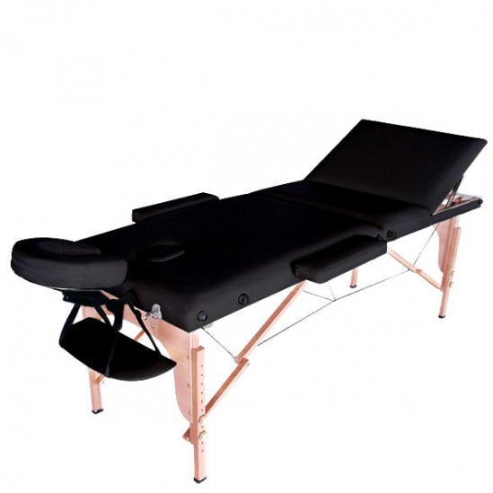 Преносима дървена масажна кушетка, NO.VA Standart Plus, NV31 - черен