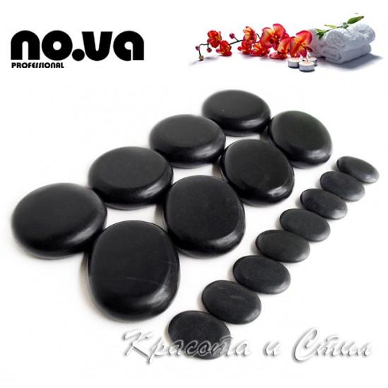Базалтови вулканични камъни за масаж - комплект 16 бр
