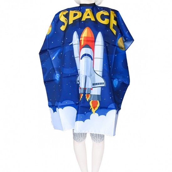 Детска пелерина за подстригване Space, 90x125 cm