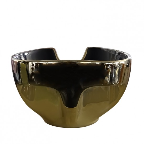 Мивка за измивна колона златно с черно модел DM4