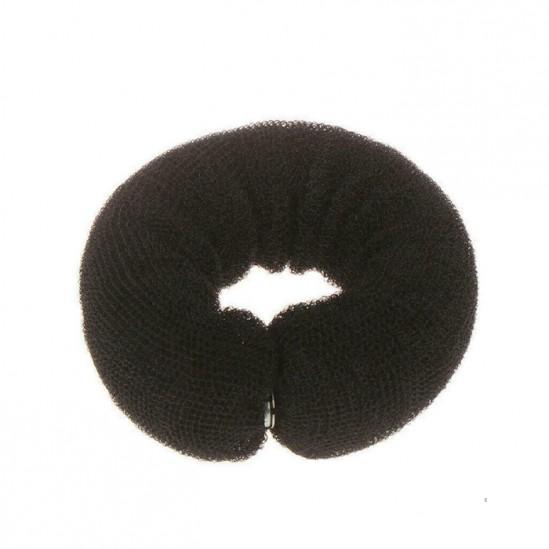 Гъба за кок с тик-так копче, 25 см, черна