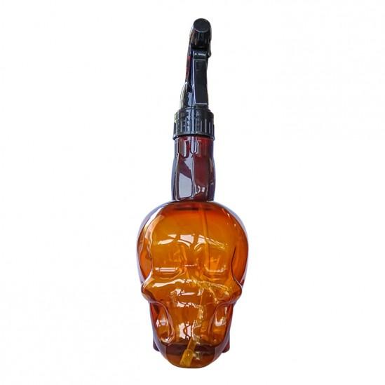 Фризьорски и бръснарски флакон с пулверизатор Brown Skull