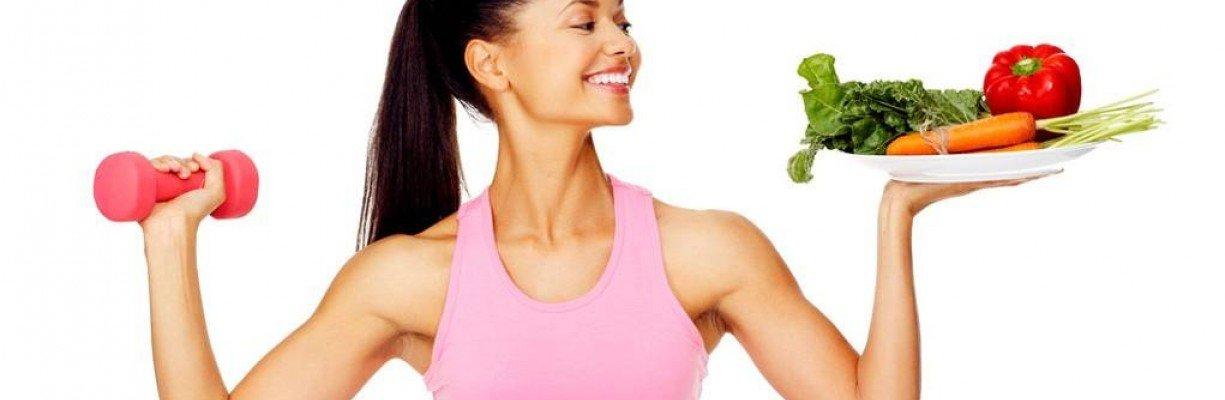 Здравословното хранене и спорт  = изпъната кожа