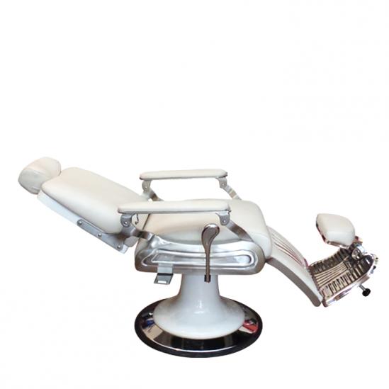 Бръснарски стол в бяло, SA26
