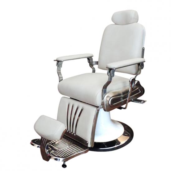 Aтрактивен бръснарски стол в бяло SA26