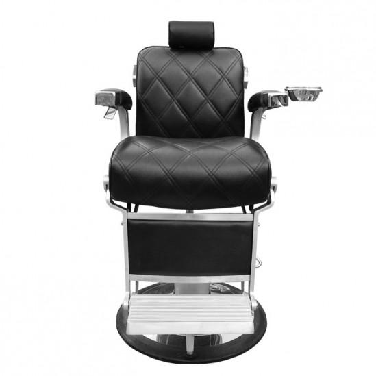Бръснарски стол с ергономичен дизайн, черен - Модел IM231