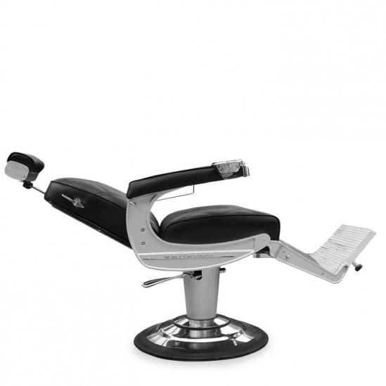 Бръснарски стол с ергономичен дизайн, черен - IM231