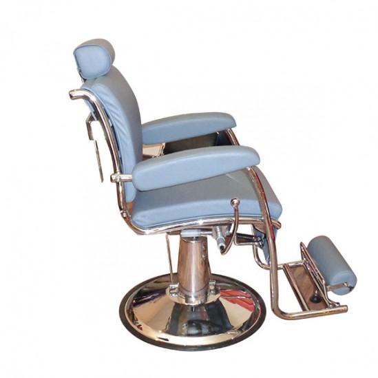 Качествен бръснарски стол - сив КА15