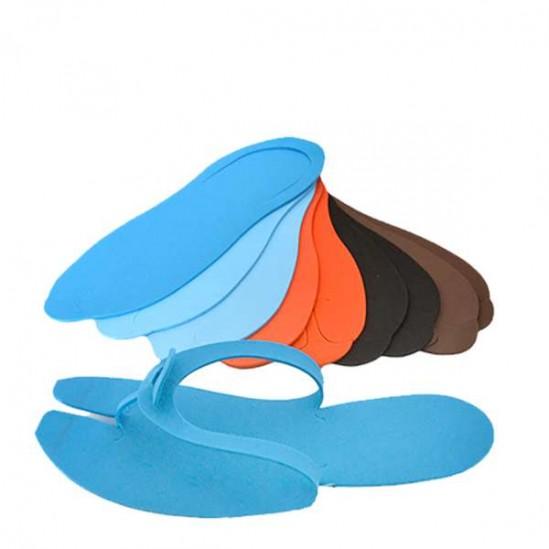 Цветни чехли за педикюр за еднократна употреба - 24 броя