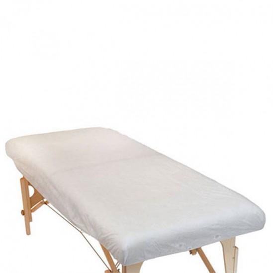 Еднократни чаршафи за масажно легло с ластик - 10бр