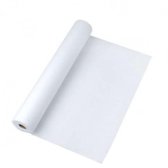 Хартиени чаршафи за еднократна употреба бели - ролка 50м