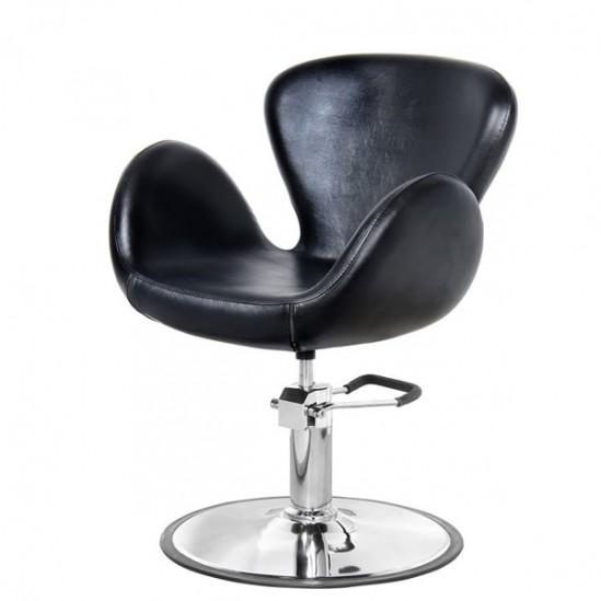 Елегантен фризьорски стол – черен PA3390BL