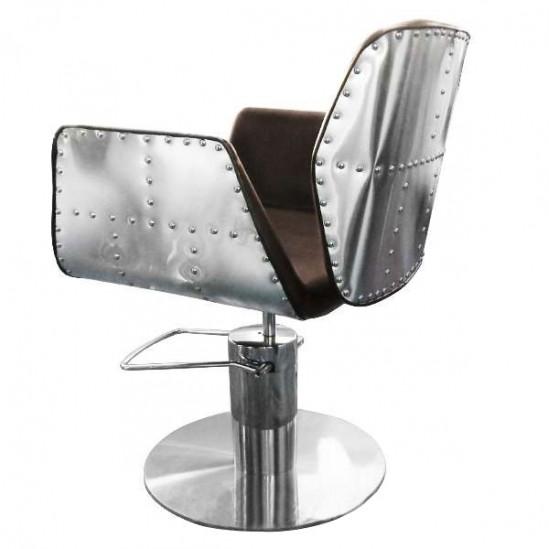 Луксозен кафяв фризьорски стол HA295