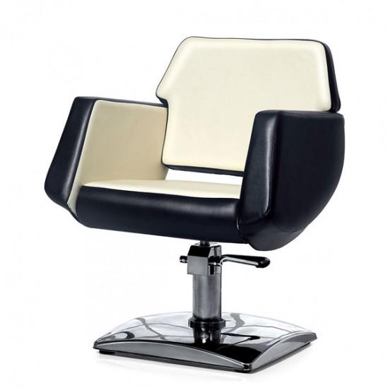 Фризьорски стол, PA8100BW - черно и бежово