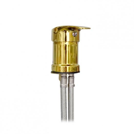 Смесител за измивна колона в златисто, F817