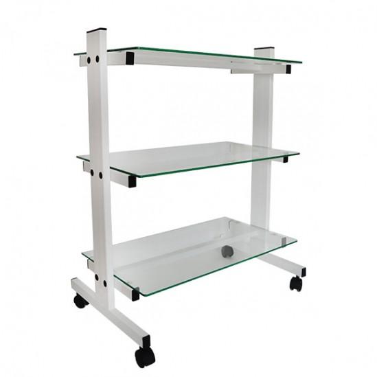 Козметична количка със стъклени рафтове, KK001