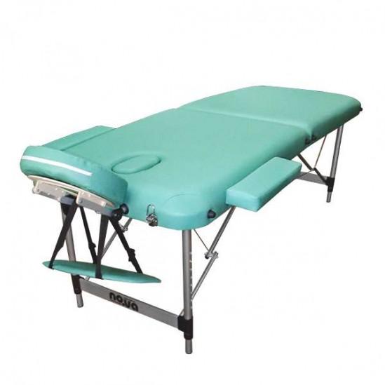 Алуминиева масажна кушетка- светло зелена, NO.VA Aero, NV22