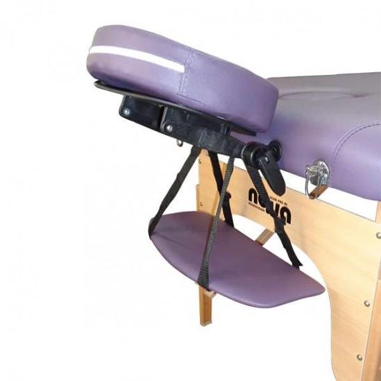 Дървена масажна кушетка в лилаво, NO.VA Standart, NV22