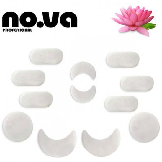 Комплект бели мраморни камъни за масаж 12бр