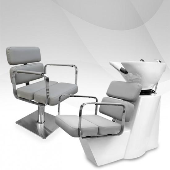 Комплект за фризьорски салон в семпъл дизайн Grey