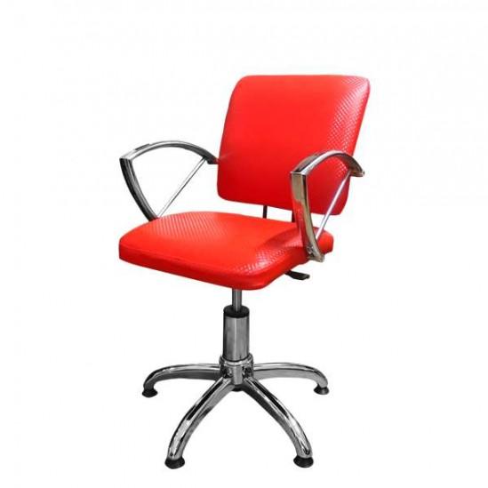 Фризьорски стол - червен